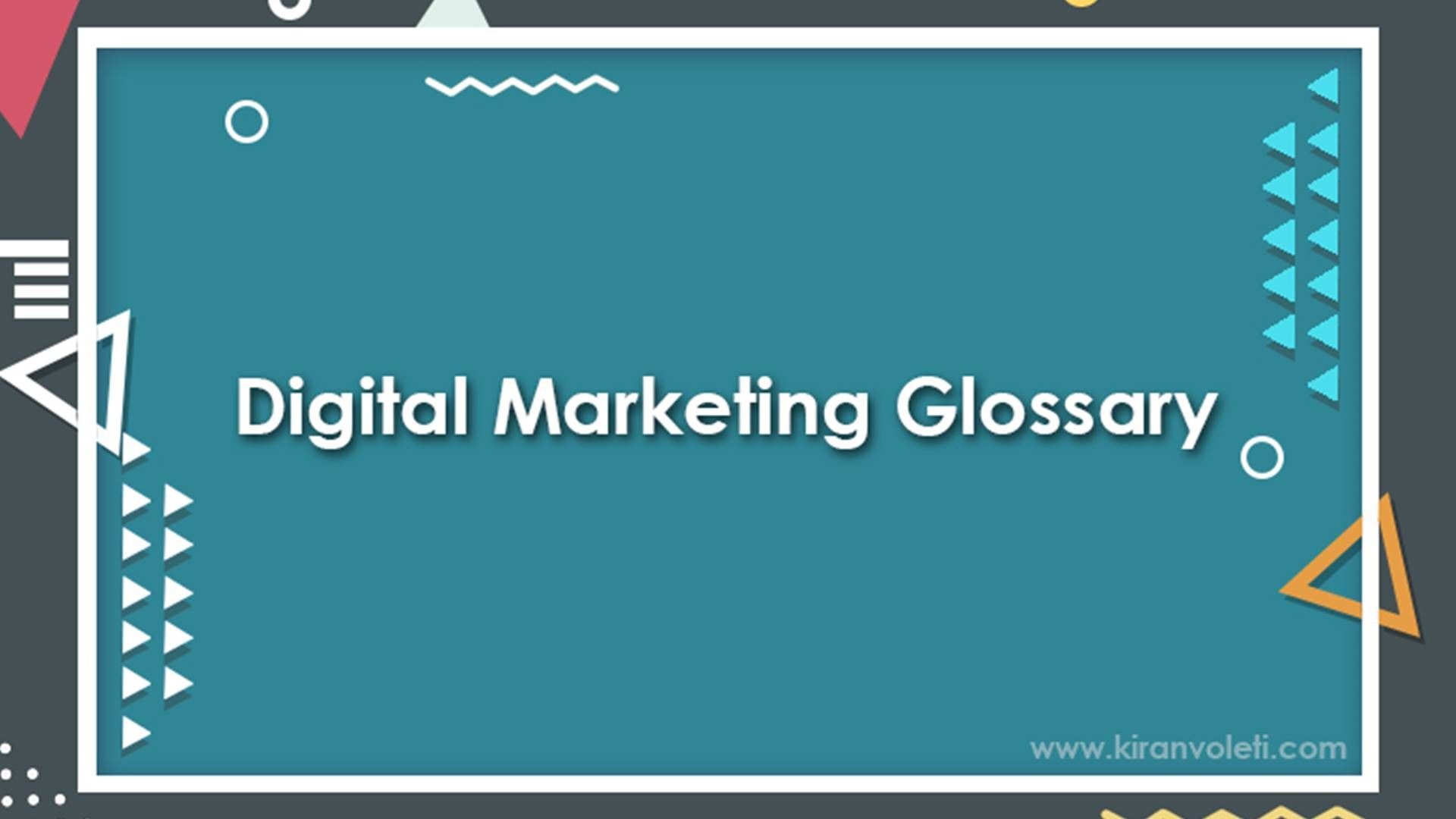 Digital Marketing Glossary